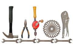 Praca listy narzędziami. Zdjęcie Royalty Free