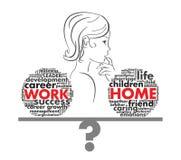 Praca lub kariera w postaci listów Obrazy Stock