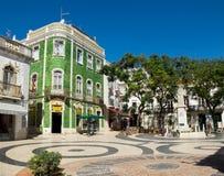 Praca Luis de Camoes Λάγος Πορτογαλία Στοκ φωτογραφία με δικαίωμα ελεύθερης χρήσης