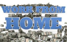 Praca od domu - jaźni zatrudnienie Obraz Stock
