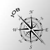 Praca pisać na boku kompas Zdjęcie Stock