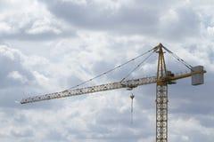 Praca przy budową, żurawiem i budową, zdjęcia stock
