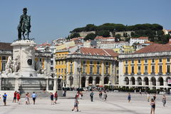Praca tun Comercio in Lissabon, Portugal lizenzfreies stockbild