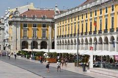 Praca tun Comercio in Lissabon, Portugal stockfotografie