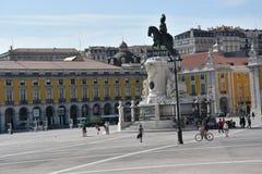 Praca tun Comercio in Lissabon, Portugal stockbilder