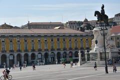 Praca tun Comercio in Lissabon, Portugal lizenzfreie stockbilder