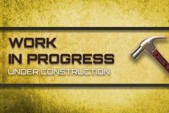 Praca w toku w budowie strona internetowa Zdjęcia Royalty Free