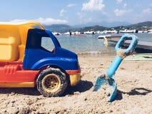 Praca w toku w plaży Zdjęcia Royalty Free