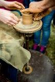 Praca z gliną Zdjęcie Royalty Free