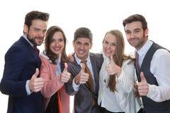 Praca zespołowa, biznes drużyna z aprobatami zdjęcia royalty free