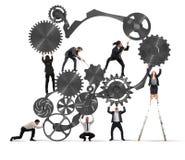 Praca zespołowa biznesmeni royalty ilustracja