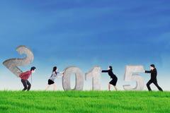 Praca zespołowa kolaboruje komponować liczbę 2015 Obrazy Stock