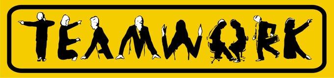 praca zespołowa logo obrazy stock