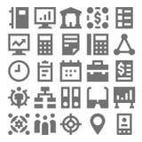 Praca zespołowa, organizacj Wektorowe ikony 3 Obraz Royalty Free