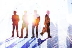 Praca zespołowa, sukces i akcydensowy pojęcie, zdjęcia stock