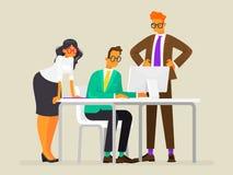 Praca zespołowa Tworzy projekt ludzie biznesu prac również zwrócić corel ilustracji wektora ilustracja wektor