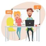 Praca zespołowa w biurowej kobiecie i mężczyzna obrazy stock