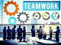 Praca zespołowa współpracy biznesu drużyny interesu pojęcie Fotografia Royalty Free