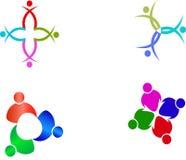 Praca zespołowa logowie Royalty Ilustracja