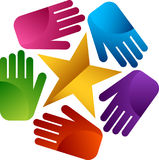 Praca zespołowa sukcesu logo Zdjęcia Stock