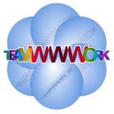 Praca zespołowa - teamWWWork Fotografia Royalty Free