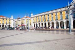 Pracaen gör Comercio av den Lissabon staden, Portugal Royaltyfria Foton