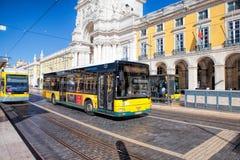Pracaen gör Comercio av den Lissabon staden, Portugal Royaltyfria Bilder