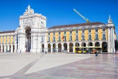 Pracaen gör Comercio av den Lissabon staden, Portugal Royaltyfri Foto