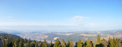 Prachatice - Libin lookout view Royalty Free Stock Photo