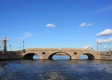 Prachechny bridge. In Saint-Petersburg Royalty Free Stock Photo