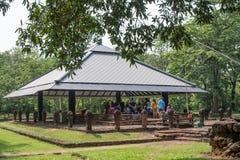 Prachin Buri, Thailand - April 14, 2018: Visitot in Sri Mahosot. Ancient City Stone The holy pond at Prachinburi,Thailand Stock Images