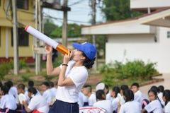 Prachinburi, Tailândia, o 15 de junho de 2018 - mundo contra a parada do dia da droga foto de stock