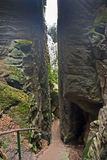 Prachov岩石在捷克共和国的塔形成 免版税图库摄影