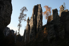 The Prachov Rocks in Central Bohemia, Czech Republic. Royalty Free Stock Images