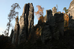 The Prachov Rocks in Central Bohemia, Czech Republic. Stock Images