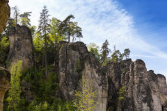 Prachov Rocks. The Prachov Rocks, Czech Republic royalty free stock photos