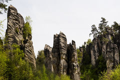 Prachov Rocks. The Prachov Rocks, Czech Republic royalty free stock images