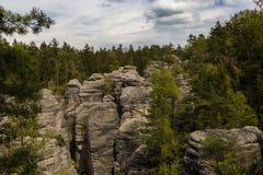 Prachov Rocks. The Prachov Rocks, Czech Republic stock image