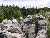 Prachovské-Felsen Stockbilder