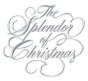 Pracht des Weihnachtsskriptes Stockfotos