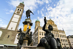 Prachtbrunnen en Augsburg Fotos de archivo libres de regalías
