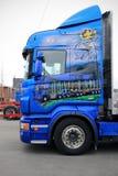 Prachtig Aangepast Scania die Vrachtwagen registreren royalty-vrije stock afbeelding