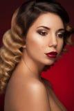 Prachtig gezichtsportret van jong charmant meisje Royalty-vrije Stock Foto