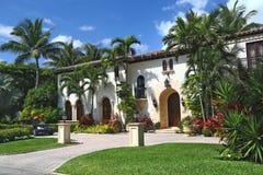 Prachtig herenhuis in Palm Beach Stock Afbeeldingen