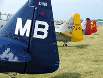 Prachtig herstelde klassieke Noordamerikaanse AT-6 Texans Royalty-vrije Stock Foto