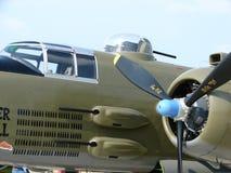 Prachtig herstelde Noordamerikaanse B25 Mitchell-bommenwerper Royalty-vrije Stock Fotografie