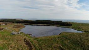 Prachtig landschap van Binenenagh in Noord-Ierland stock video