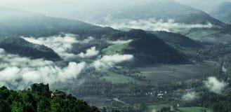Prachtig landschap van Furlo, Marche Italië stock afbeelding