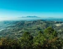 Prachtig landschap van Furlo, Marche Italië royalty-vrije stock afbeelding