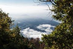 Prachtig landschap van Furlo, Marche Italië royalty-vrije stock foto's